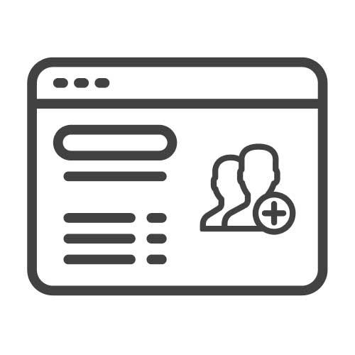 form di registrazione per raccogliere i dati di potenziali clienti