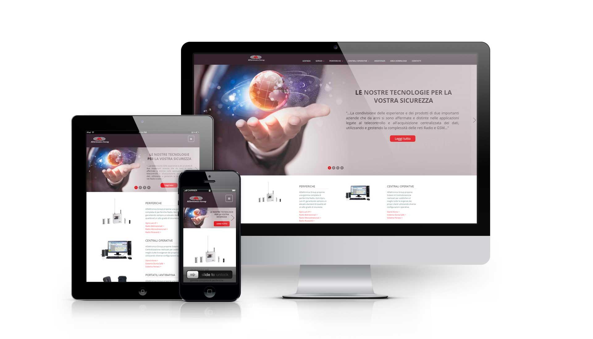 Realizzazione del sito web aelettronicagroup.com