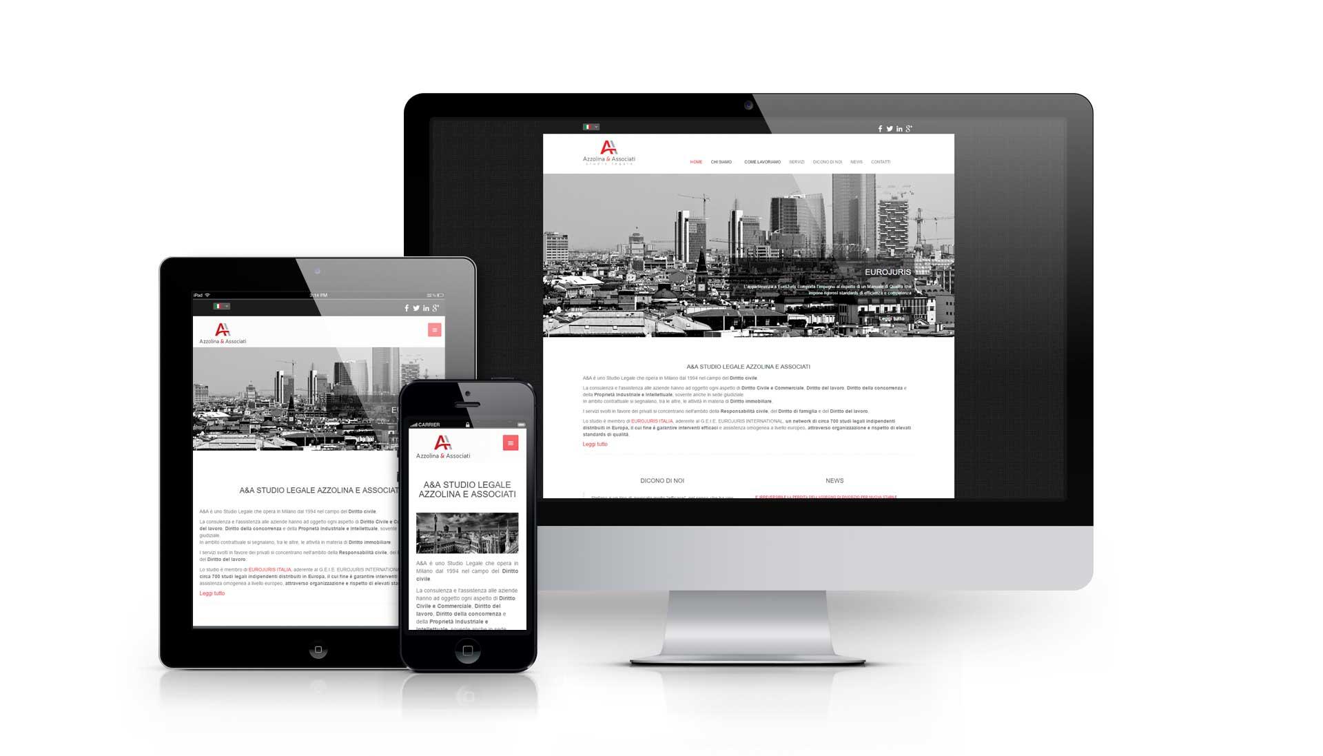 Realizzazione sito internet studiolegaleazzolina.it