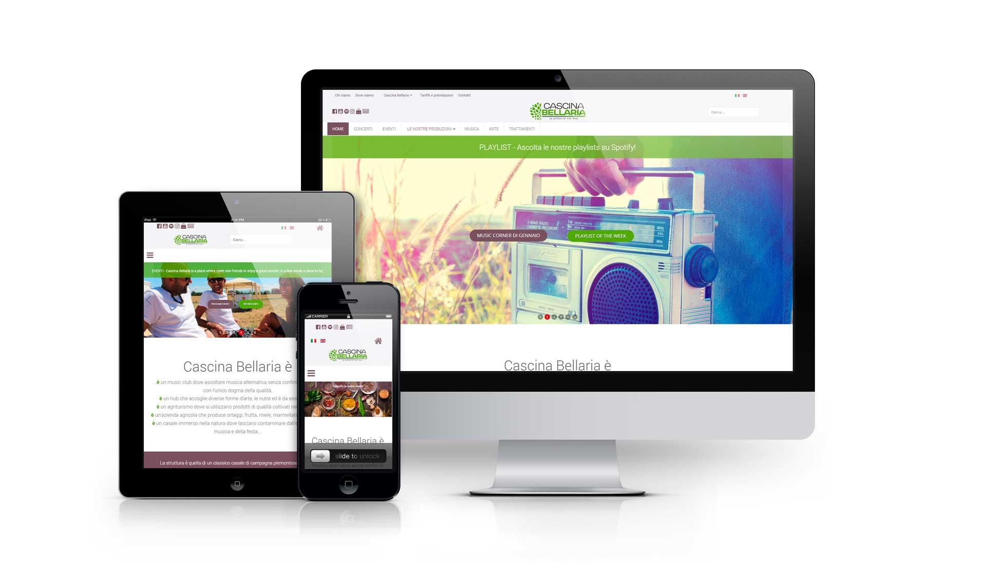 Realizzazione sito web cascinabellaria.com
