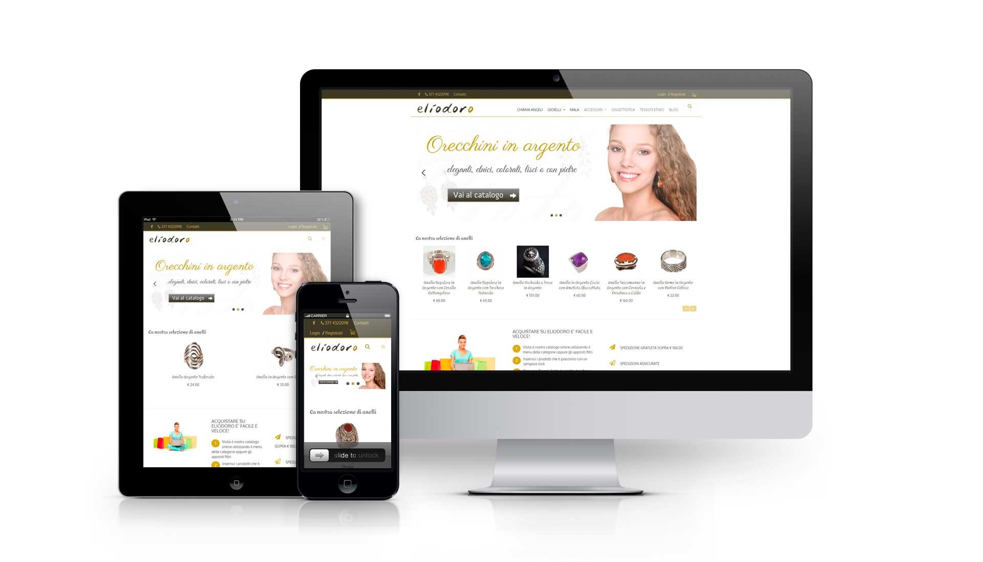 Sviluppo e-commerce gioielli etnici