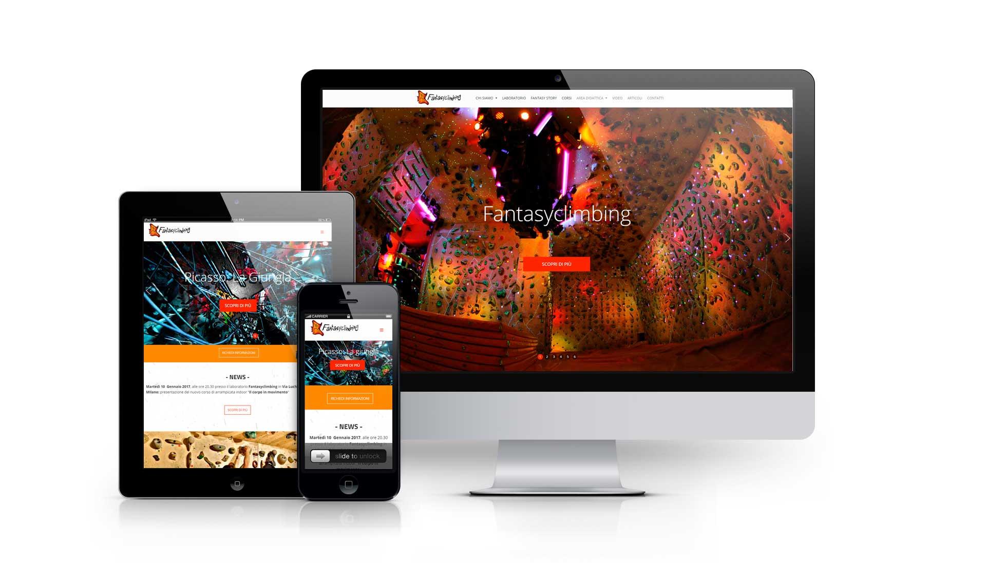Realizzazione sito web Fantasyclimbing.com