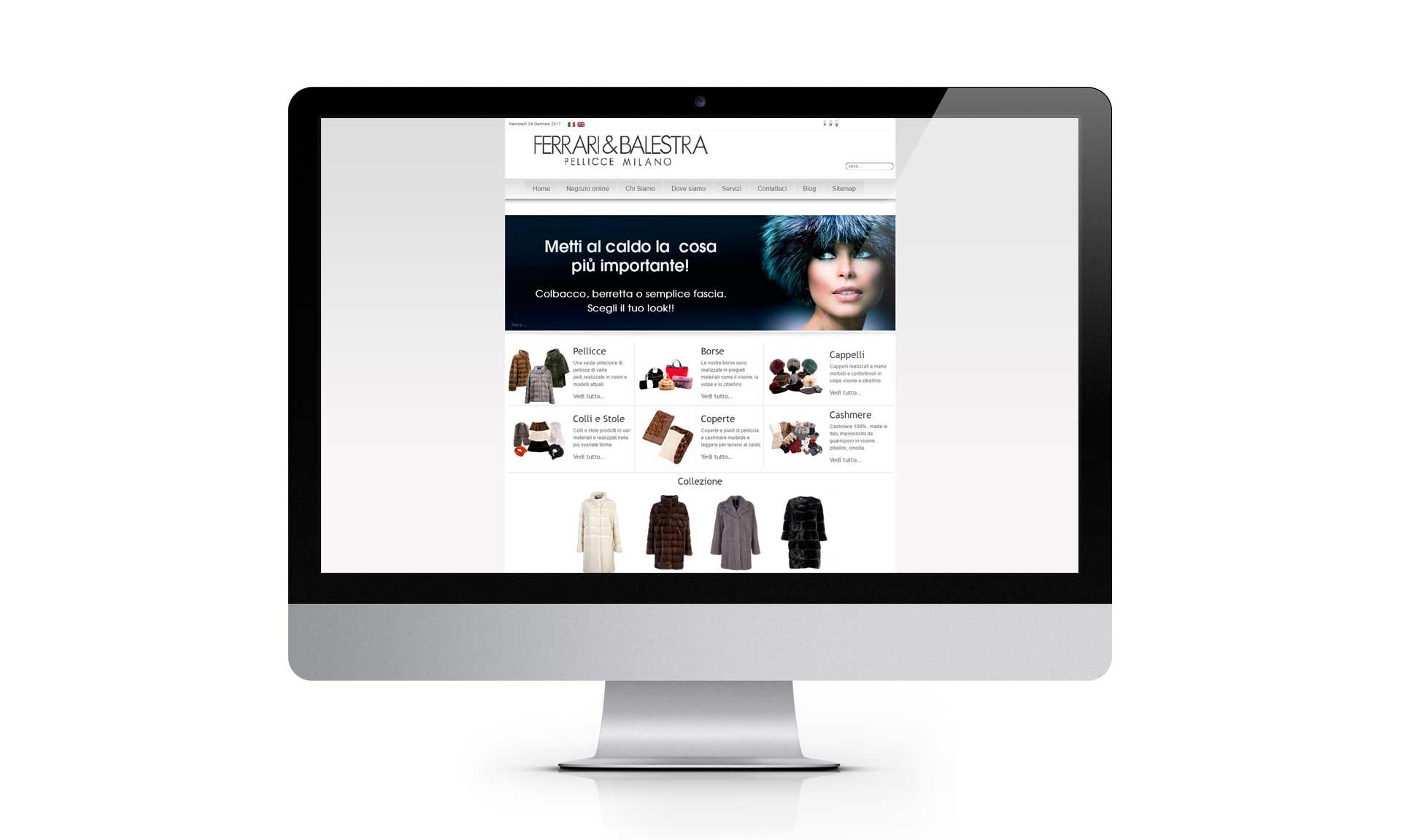 Realizzazione e-commerce ferrariebalestrapellicceria.it
