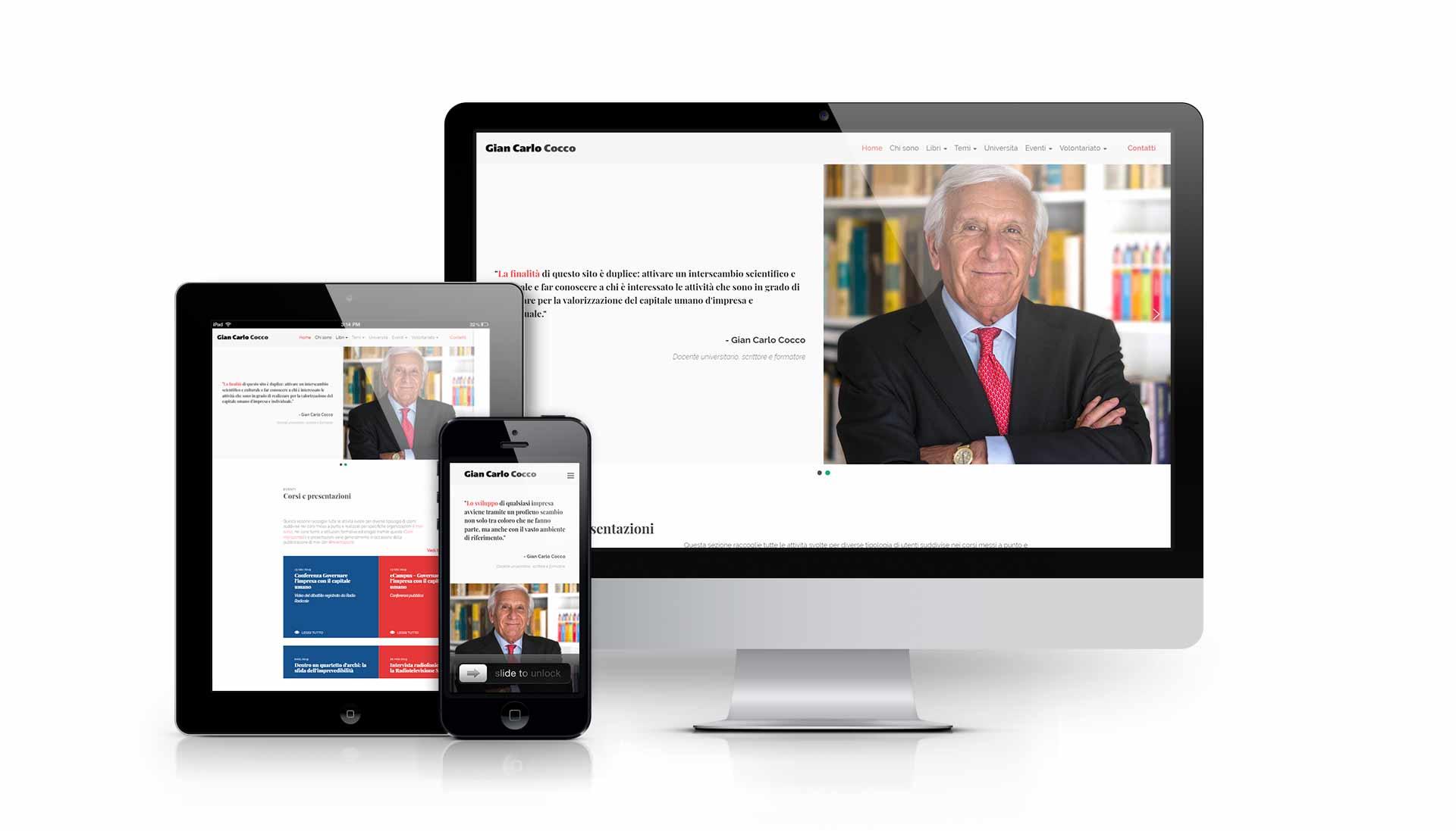 sviluppo sito personale giancarlococco.com
