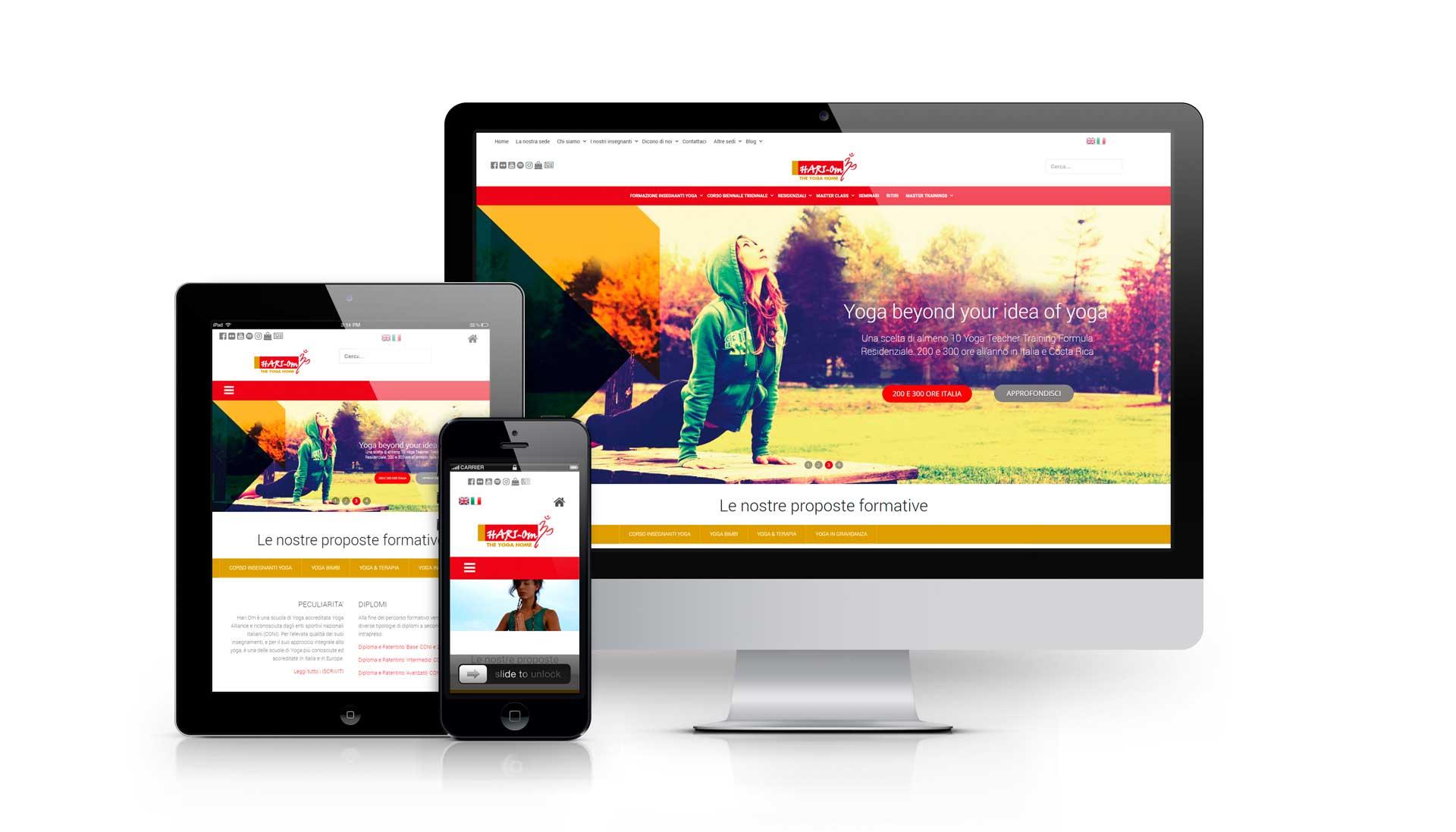 sviluppo sito web scuola di yoga