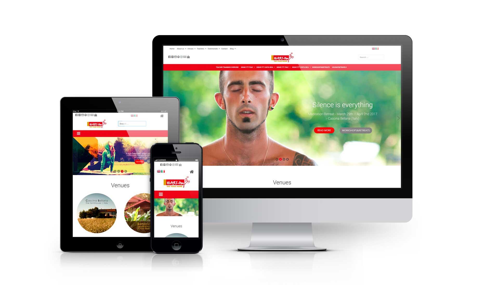 Sviluppo sito web hariomyogaschool.com