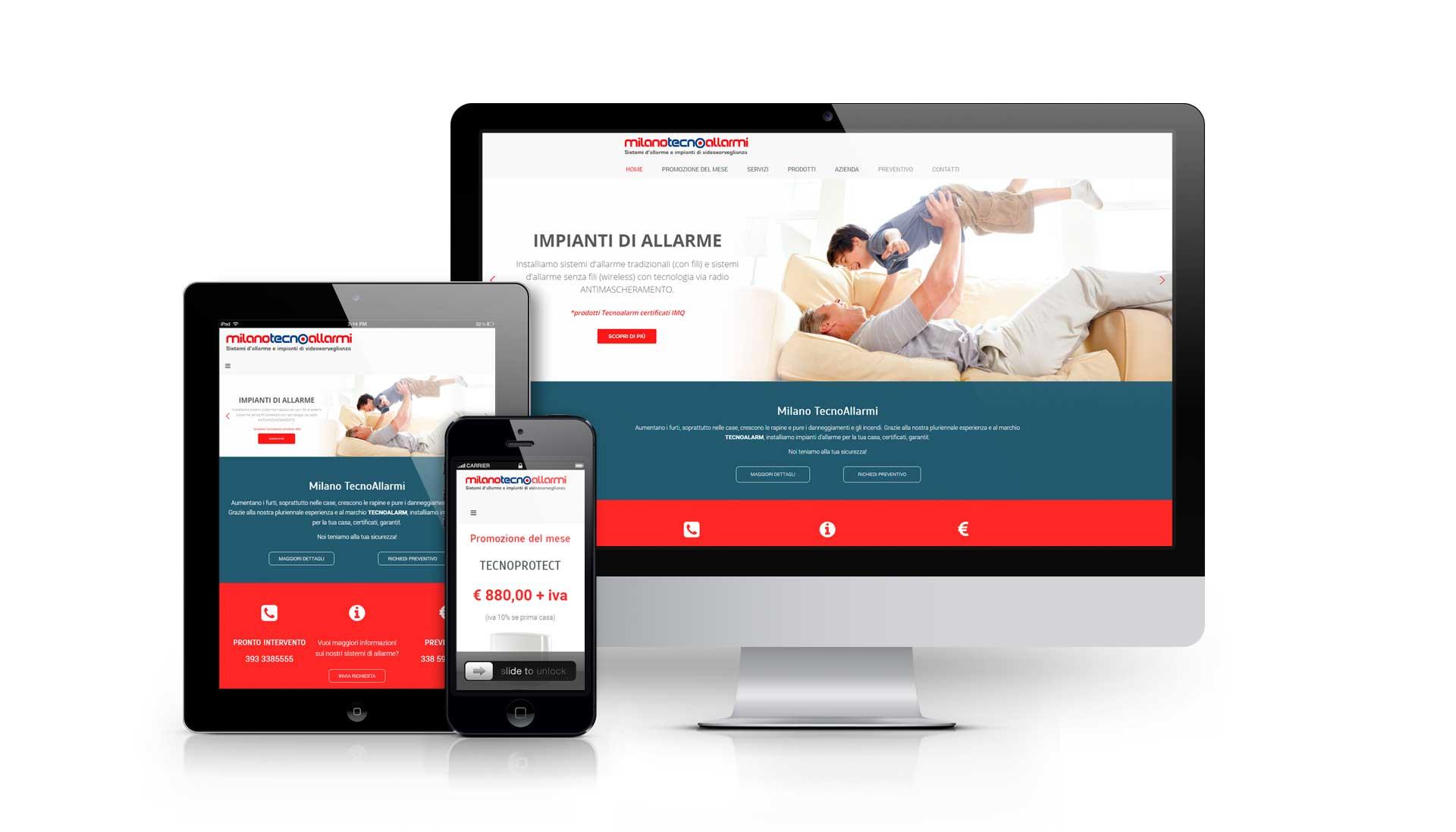 Realizzazione sito Impiantiallarme.com