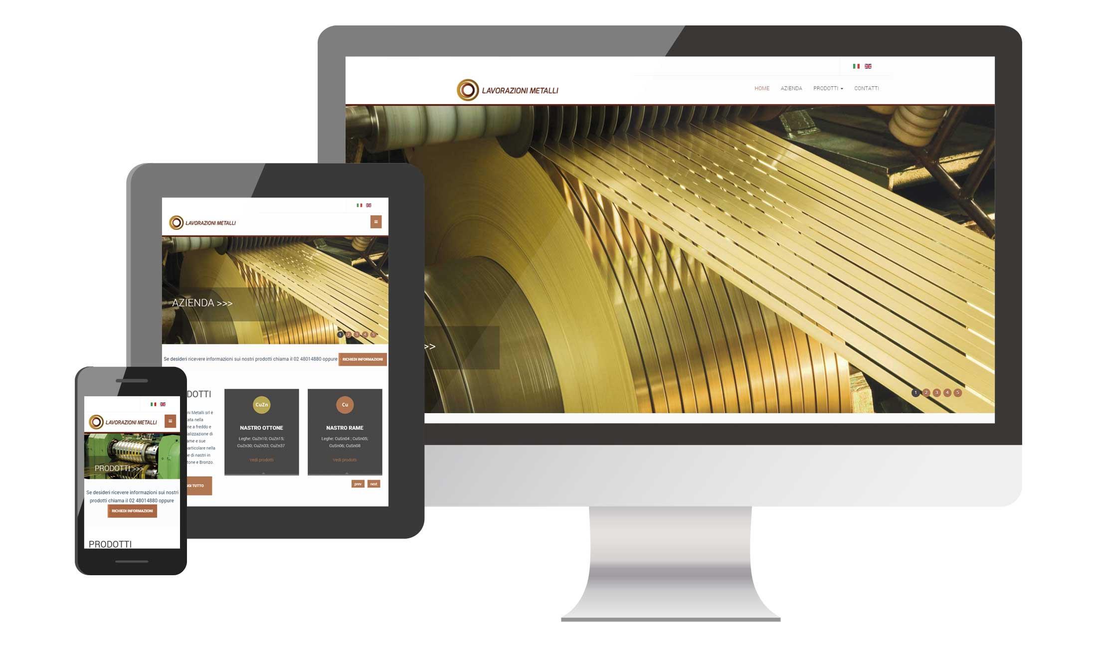 Sviluppo sito Istituzionale lavorazionimetalli.it