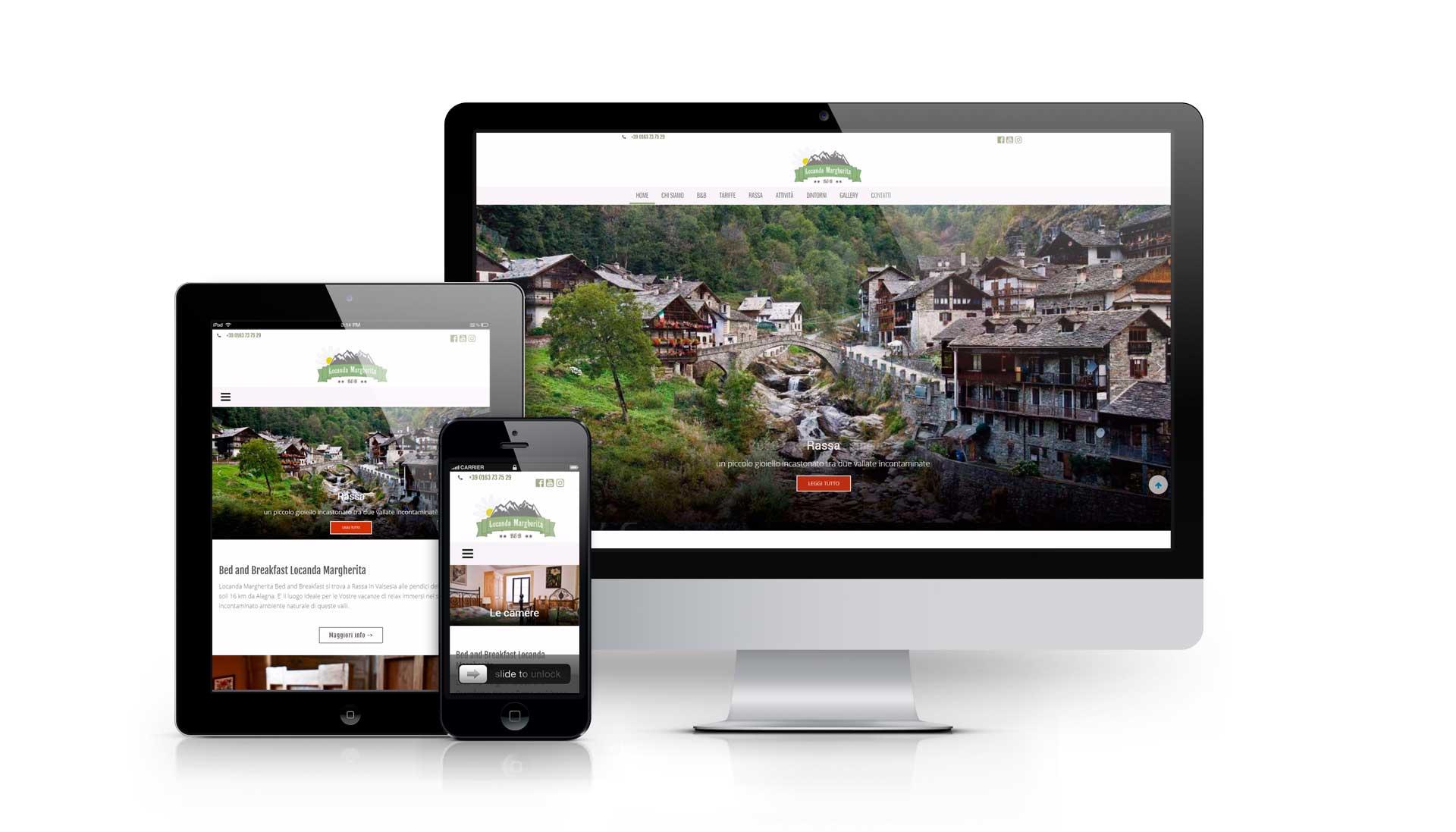 Realizzazione sito web locandamargherita.com