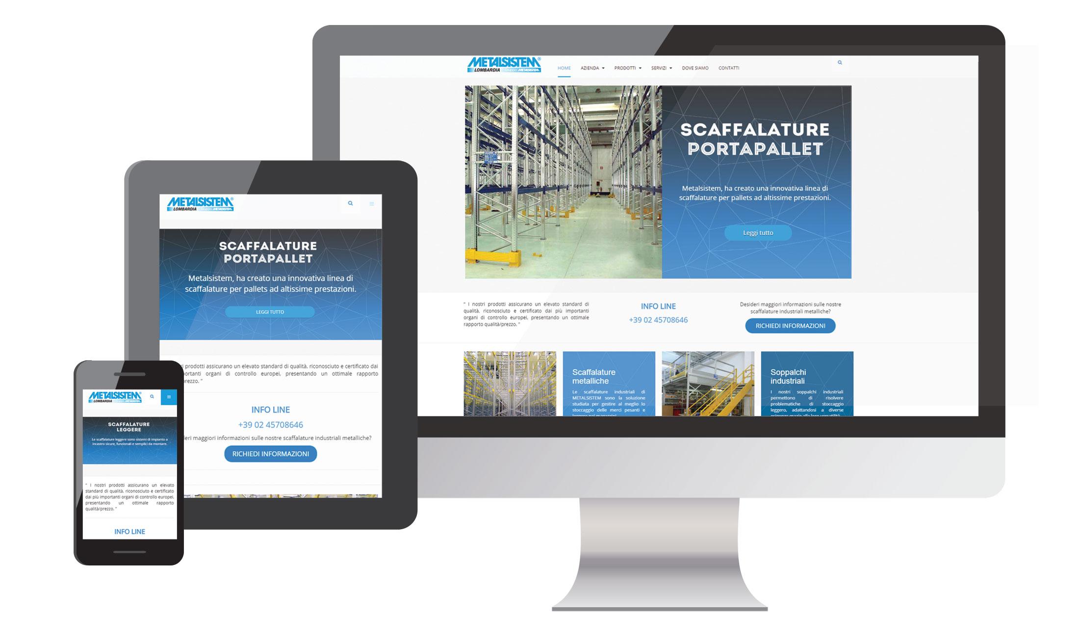 Sviluppo del sito internet metalsistemlombardia.it