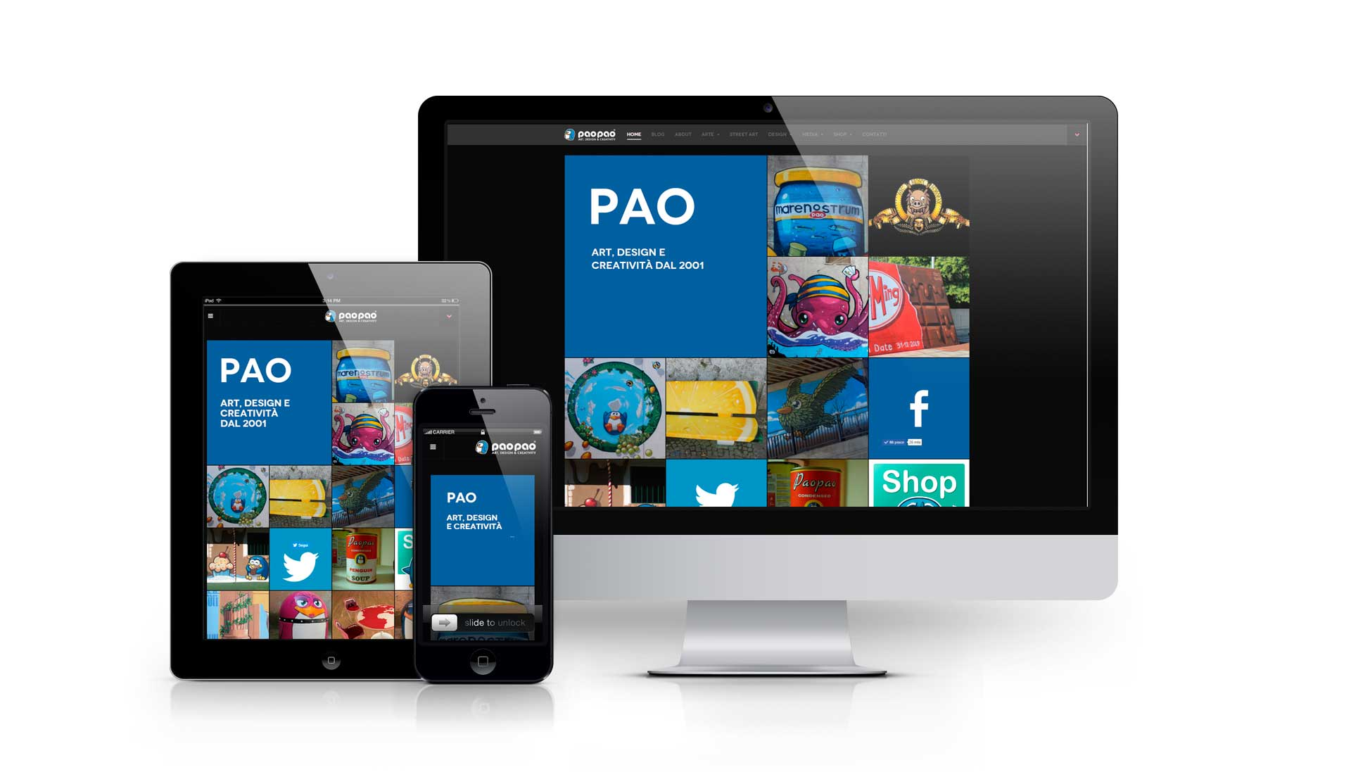 Realizzazione portfolio web/e-commerce paopao.it